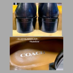 Coach Shoes - Coach black leather boots🌟Brand New🌟Women 7.5🌟